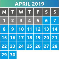 April 2019 Opening Times