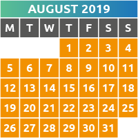 August 2019 Opening Times