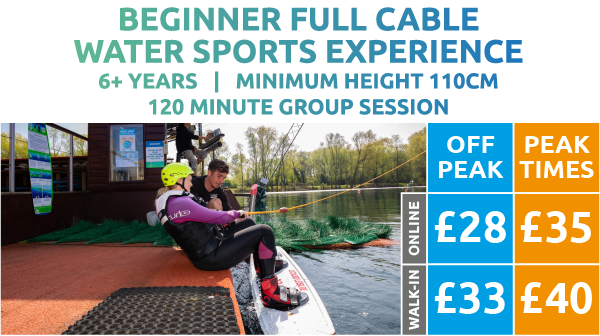 Beginner Cable Water Sports Experience Price