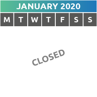 January 2020 Opening Times