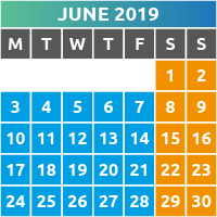 June 2019 Opening Times