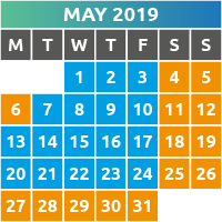 May 2019 Opening Times