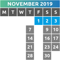 November 2019 Opening Times