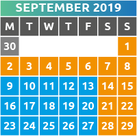 September 2019 Opening Times