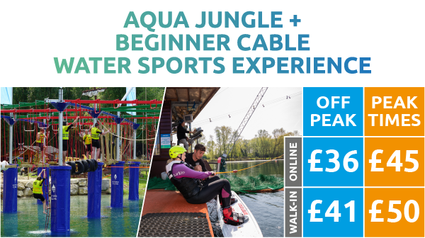 Aqua Jungle + Beginner Cable Water Sports Experience