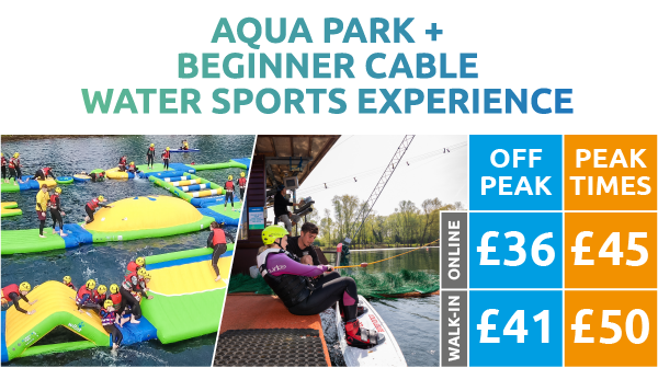 Aqua Park + Beginner Cable Water Sports Experience