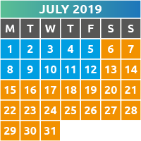 July 2019 Opening Times